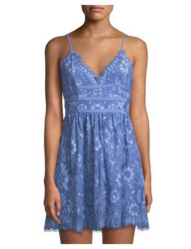 Give It Up Crochet Sleeveless Fit And Flare Dress by Nbd