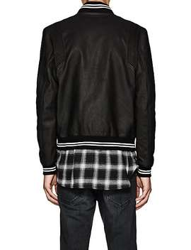 Leather Stadium Jacket by John Elliott