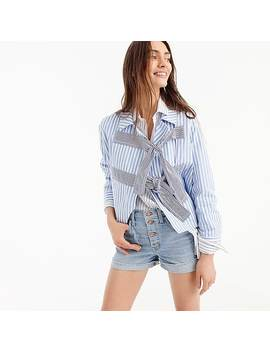 High Rise Denim Short With Button Fly by J.Crew