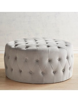 Villa Gray Tufted Cocktail Ottoman by Pier1 Imports