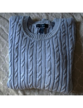 Karen Scott Cable Knit Pullover Sweater by Karen Scott