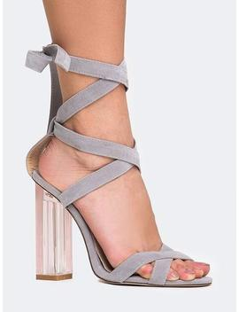 Clear Lace Up Sandal by Zooshoo