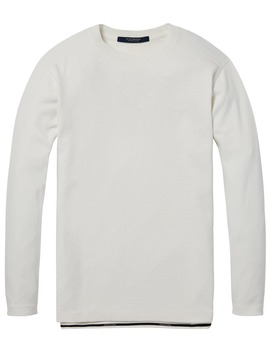 Structured Long Sleeved T Shirt by Scotch&Soda