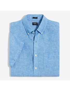 J.Crew Mercantile Slim Fit Short Sleeve Linen Shirt by J.Crew