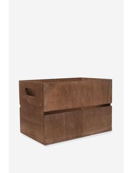 Wooden Crate by Cotton On