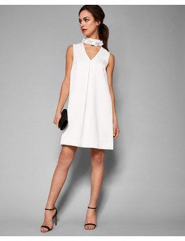Embellished High Neck Dress by Ted Baker