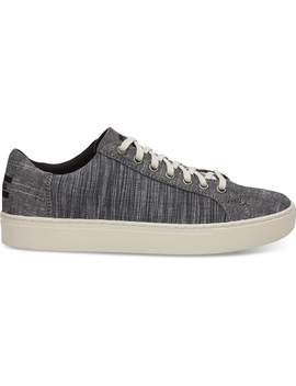 Black Chambray Mix Men's Lenox Sneakers by Toms