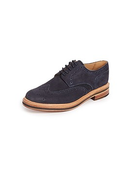 Archie Suede Wingtip Brogues by Grenson