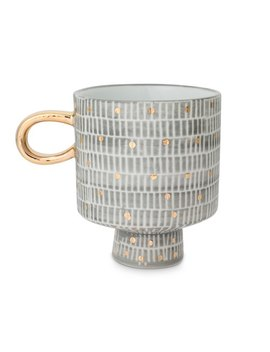 Tamma Grey PorcelainMug by Olivar Bonas