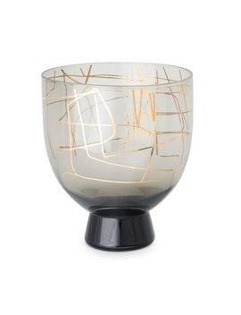 Lines Foiled Grey StackableGlass by Olivar Bonas