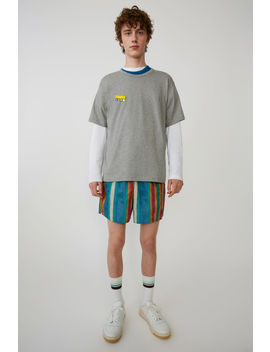 t-shirt-with-brooch-light-grey-melange by acne-studios