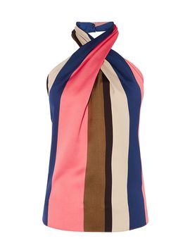 Striped Halterneck Top by Karen Millen