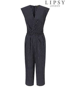 Lipsy Stripe Wrap Culotte Jumpsuit by Next