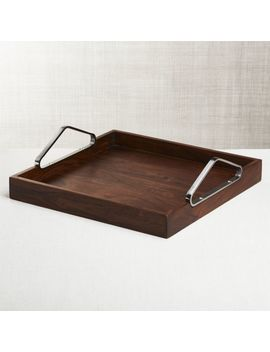 Boyd Acacia Wood Tray by Crate&Barrel