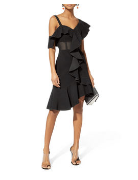 Cady One Shoulder Ruffle Dress by Proenza Schouler