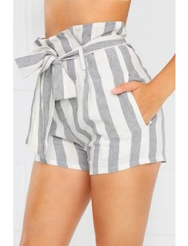 South Bay Shorts   Grey Stripe by Lola Shoetique