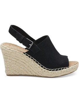 Black Suede Women's Monica Wedges by Toms
