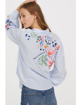 Cotton Shirt With Embroidery by H&M