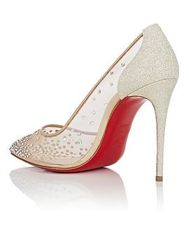 Follies Strass™ Mesh &Amp; Glitter Pumps by Christian Louboutin