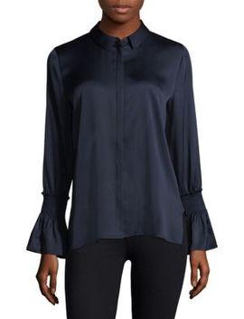 Cara Bell Sleeve Silk Blouse by Kobi Halperin