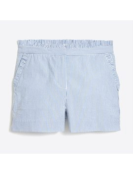 Seersucker Ruffle Short by J.Crew