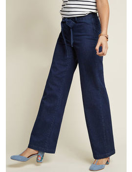 Enjoyment Awaits Wide Leg Denim Pants Enjoyment Awaits Wide Leg Denim Pants by Modcloth