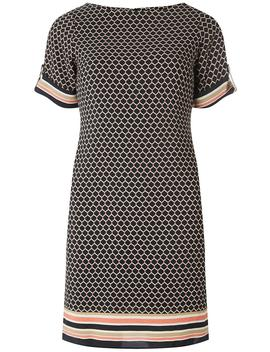 Black Tile Printed Shift Dress by Dorothy Perkins