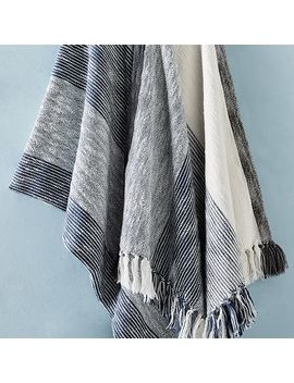 Striped Pop Edge Throw by West Elm