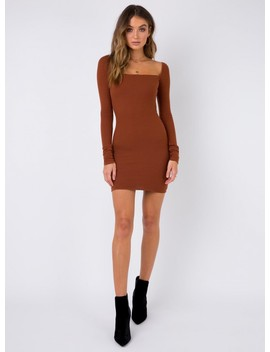 Tease Me Mini Dress Rust by Princess Polly