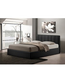 Baxton Studio Templemore Upholstered Queen Platform Bed With Storage by Bed Bath And Beyond