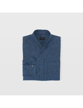 Slim Cross Dye Linen Shirt by Club Monaco