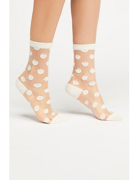 Polka Dot Sheer Anklet by Free People