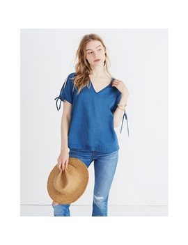 Indigo Tie Sleeve Top by Madewell