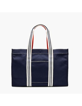 Large Canvas Tote With Striped Straps by J.Crew