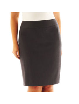 Liz Claiborne® Side Zip Pencil Skirt   Plus by Liz Claiborne