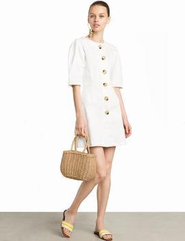 Noah Ecru Big Button Dress  15% Off by Pixie Market