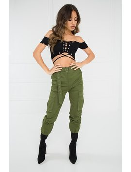 Take It Easy Cargo Pant   Olive by Lola Shoetique