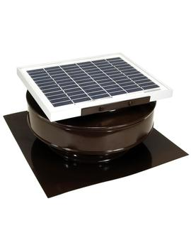 "365 Cfm Brown Powder Coated 5 Watt Solar Powered Roof Mounted Exhaust Attic Fan by <A Class=""Bttn Outline Bttn  Cta"" Href=""/B/Heating Venting Cooling Ventilation Attic Fans Vents/Active Ventilation/N 5yc1v Z5go Zc65u"" Data Target=""N/A"">                 <Span Class=""Bttn  Content"">Active Ventilation</Span>             </A>"