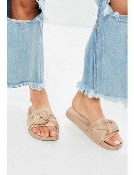 Nude Knot Front Sliders by Missguided