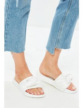 White Knot Front Sliders by Missguided