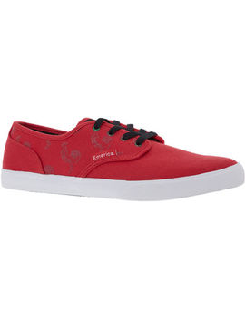 Red Low Cut Trainers by Emerica