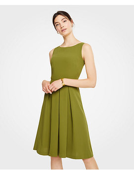 Pleated Flare Dress by Ann Taylor
