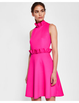 Ruffle Detail Skater Dress by Ted Baker