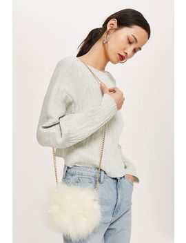 Marabou Cross Body Bag by Topshop