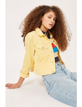 Fitted Denim Jacket by Topshop