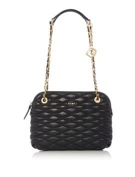 Diamond Quilted Medium Rounded Cross Body Bag by Dkny