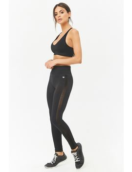 Active Mesh Knit Leggings by Forever 21