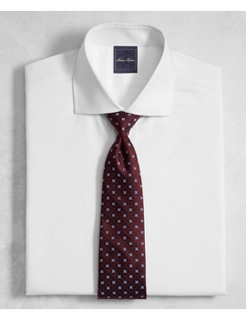 Golden Fleece® Regent Fitted Dress Shirt, White English Collar Royal Oxford by Brooks Brothers