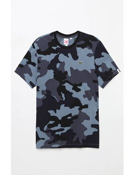 Jersey All Over Camouflage T Shirt by Lacoste