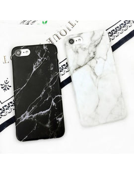 For I Phone X 8/Plus 7 6 S Granite Marble Texture Stone Soft Imd Phone Case Cover by Unbranded/Generic